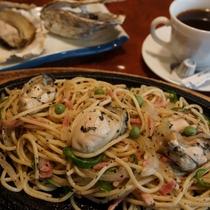 ◆アラカルトメニューの1品~厚岸産カキのスパゲッティ(イメージ)