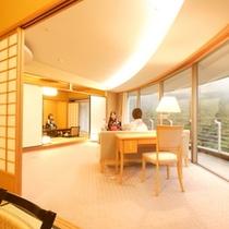 【特別室◇蘭亭】ゆとりひろびろ居間付和室10畳+6畳