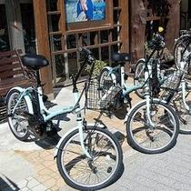 ≪電動アシスト自転車≫温泉街でレンタル出来ます。