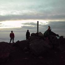 山頂から見た朝日