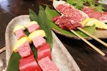 白山麓三種の肉のあじくらべ肉イメージ