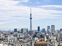 東京スカイツリー(R)眺望 ★客室エレベーター付近の客室通路(8階以上)よりご覧いただけます