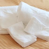 タオル◆大中小3種類ご用意。連泊の方には毎日交換いたします。