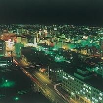 ラウンジからの夜景は釧路市街が一望いただけます
