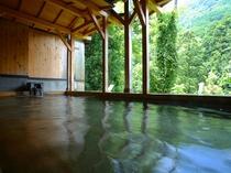 渓谷美広がる露天風呂