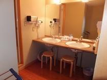 西館和室10畳+10畳【洗面所】