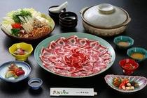 ご宴会用黒豚しゃぶ鍋コース(一例)