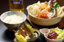 キムチ鍋(スキー宿泊プランの夕食)