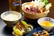 桜鍋(スキー宿泊プランの夕食)