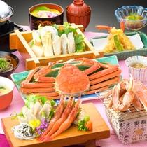 【かにまんぷくご膳】焼き蟹・蟹鍋・蟹ちらし寿司などカニを堪能したい方におすすめ♪