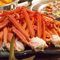 夕食バイキング蟹足