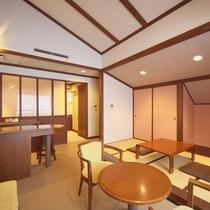 【ファミリールーム一例】和室スペースを備え二世代に人気のお部屋です