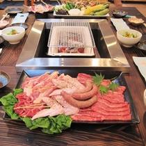【夕食一例】七輪炭火焼き