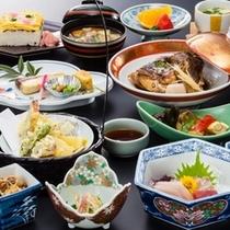 郷土料理を含めた会席料理(イメージ)