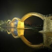 黄金色の錦帯橋
