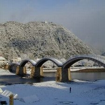 冬の錦帯橋