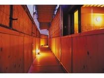 露天風呂回廊