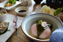 饗宴プラン(春)甘鯛桜蒸し イメージ