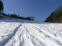 青空と雪景色