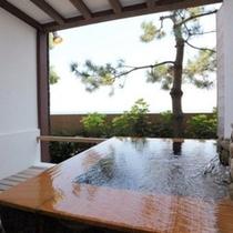 1階温泉水プール&露天風呂付き客室