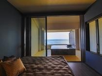 デイベッド+露天風呂付き客室 お部屋からの景色