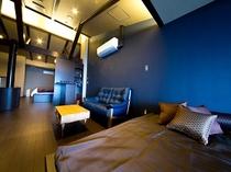デイベッド+露天風呂付き客室  お部屋全景