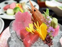 宝舞【造り】鯛、鮪、間八、烏賊、ボタン海老
