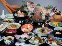 舟盛り付き会席料理『満潮の膳』