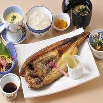 ホッケ定食(夕食メニュー)