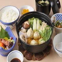知床鶏の水炊き鍋(夕食メニュー)