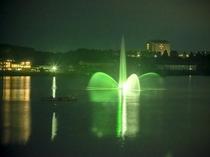 当館から見える噴水イメージ