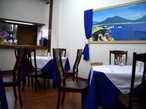 イタリアンレストランアッズーロ店内
