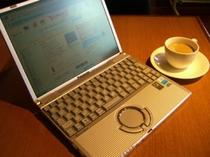 【コーヒーサービス】 挽きたてコーヒーが無料!15時からレストランにて、店内は無線LANもあります♪