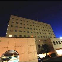 かごしま空港ホテル外観(夜)