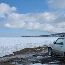 能取岬の流氷。
