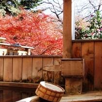 *男湯露天から紅葉の眺め