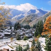 相倉合掌造り集落秋から冬へ5*5