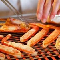 焼き蟹は食べ頃の焼き加減でお出しいたします