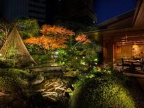 日本料理「雲海」の日本庭園