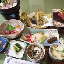*【夕食一例】信州ならではの新鮮な幸をふんだんに使っています。