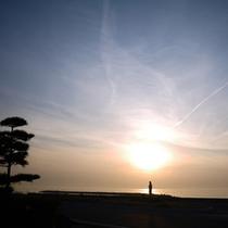 【夕日】当館から眺める夕日は絶景です!