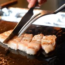 焼き物 地元花巻産白金豚ステーキ