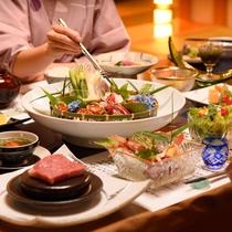夕食一例 創作会席料理イメージ