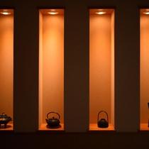 大浴場「喜久の湯」南部鉄器のオブジェ