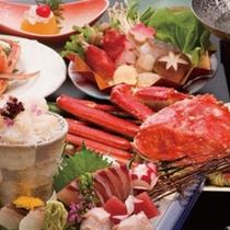 【かにづくし会席】 ※一度の4種類の味わい方ができる、超ぜいたく料理!