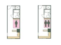 タイプB ベッド数と宿泊可能人数