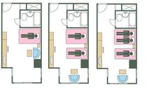 タイプD ベッド数と宿泊可能人数