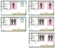 タイプE ベッド数と宿泊可能人数