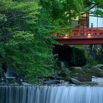 藤木川と赤い橋