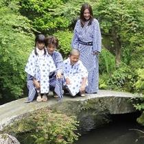 【庭】家族で過ごす休日